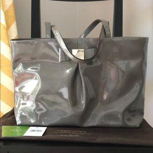 Kate Spade Small Patent Gray Tote Bag